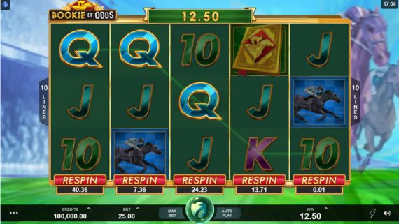 Bookie of Odds slot by Triple Edge Studios + Microgaming
