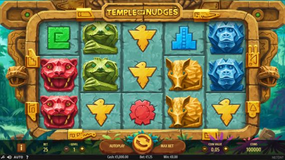 Temple of Nudges slot by NetEnt