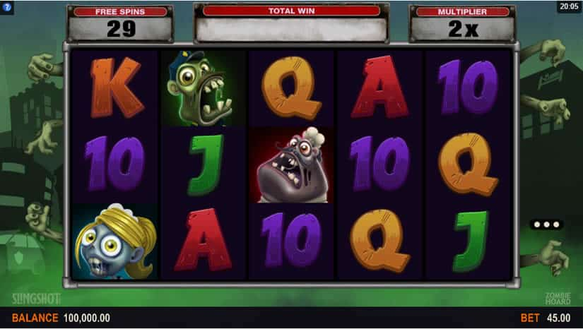 Zombie Hoard slot by Sling Shot Studios (Microgaming)