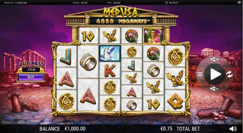 Medusa slot Megaways by Nextgen