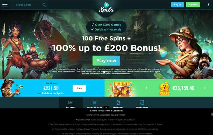Spela casino Homepage