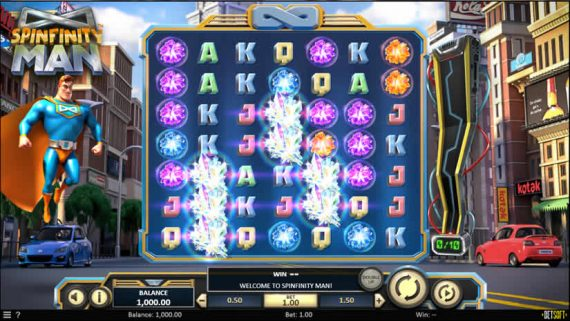 Best slots to play in July 2019: Spinfinity Man slot by Betsoft