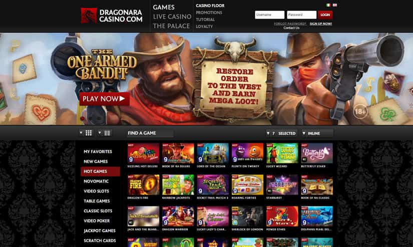 Dragonara Casino Homepage