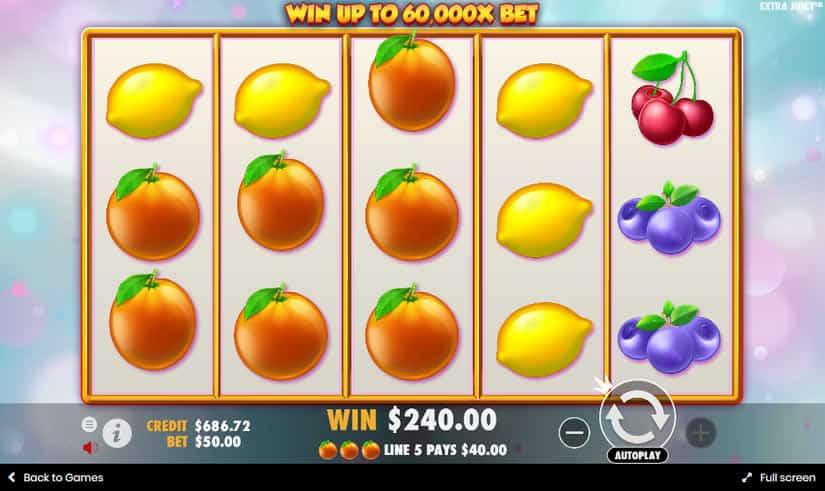Extra Juicy Slot Win