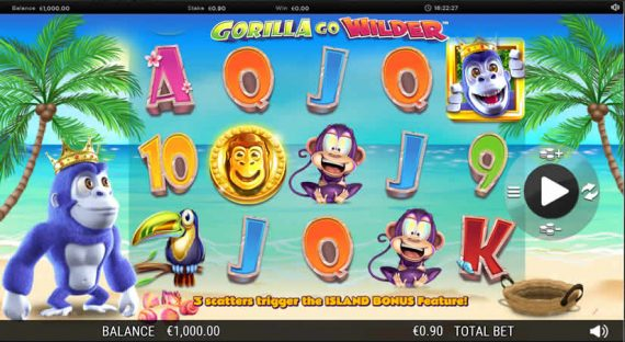 Best slots to play in July 2019: Gorillas go Wild slot by Nextgen