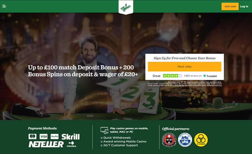 Mr. Green Casino HomePage