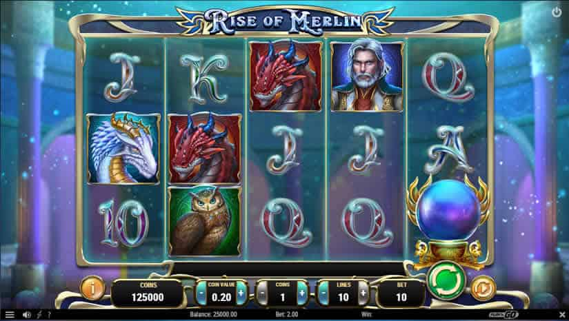 Best slots to play in July 2019: Rise of Merlin slot from Play'N Go