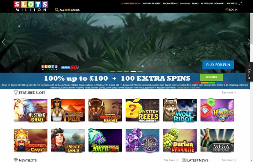 Slots Million Casino HomePage