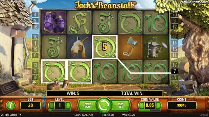 Virtual Reality Slots Jack and the Beanstalk Slot by Netent