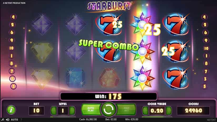Virtual Reality Slots Starburst Slot by Netent