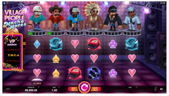 Village People Macho Moves Slot by Microgaming
