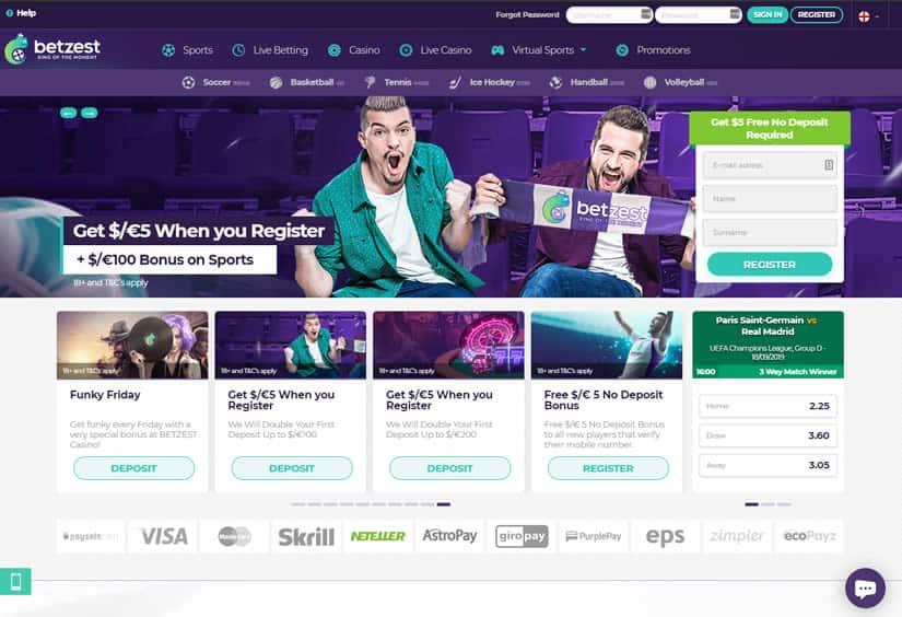Betzest Casino Site: Homepage