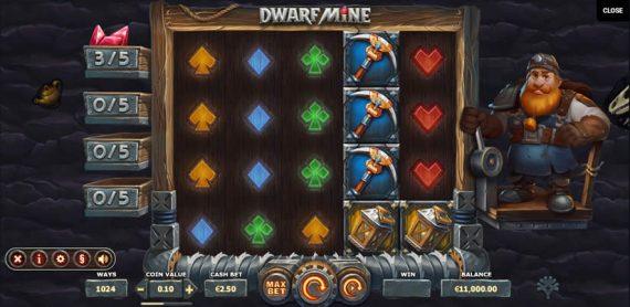 Dwarf Mine Slot by Yggdrasil Gaming