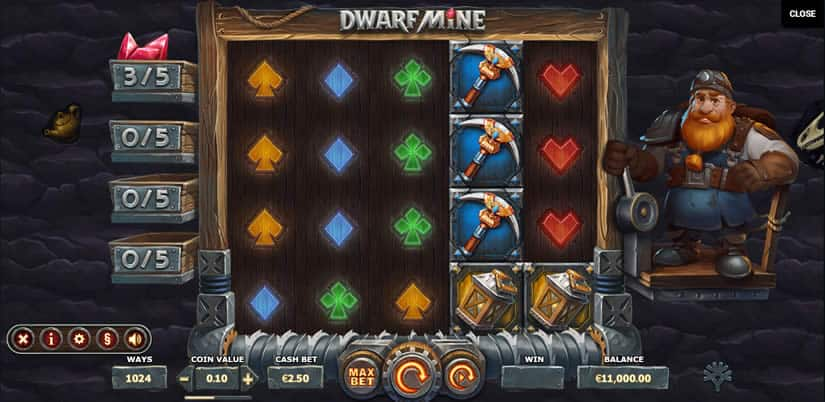 Dwarf Mine Slot by Yggdrasil Gaming