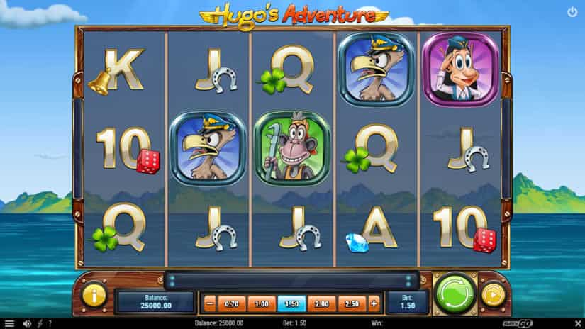 Hugo's Adventure Slot by Play'n Go