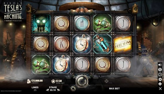 Nikola Tesla's Incredible Machine slot by Yggdrasil