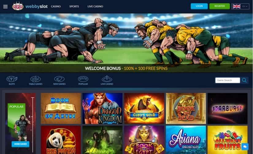 Webbyslot Casino HomePage