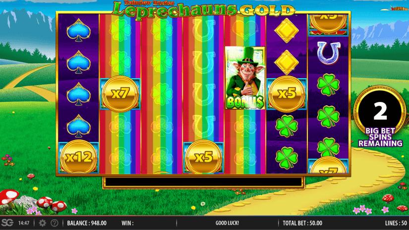 Rainbow Riches Leprechauns Gold Slot Machine Big Bets