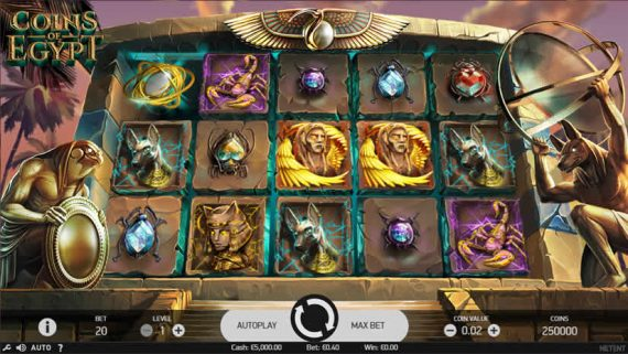 Coins of Egypt slot by Netent: Best slot machines with Egyptian theme