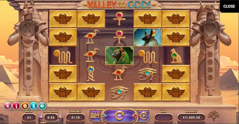 Valley of the Gods slot by Yggdrasil: Best Egypt themed slot machines