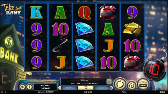 Take the Bank slot by Betsoft - Best slots to play in November 2019
