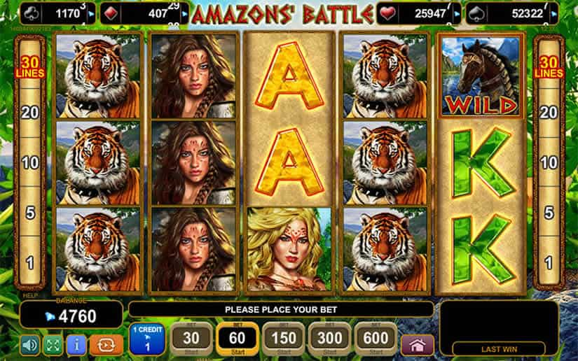 Amazon's Battle slot by EGT