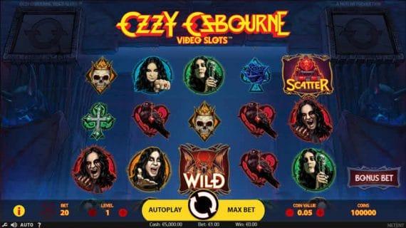 Ozzy Osbourne slot by Netent