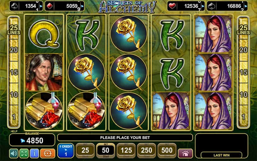 Secrets of Alchemy Slot Game by EGT