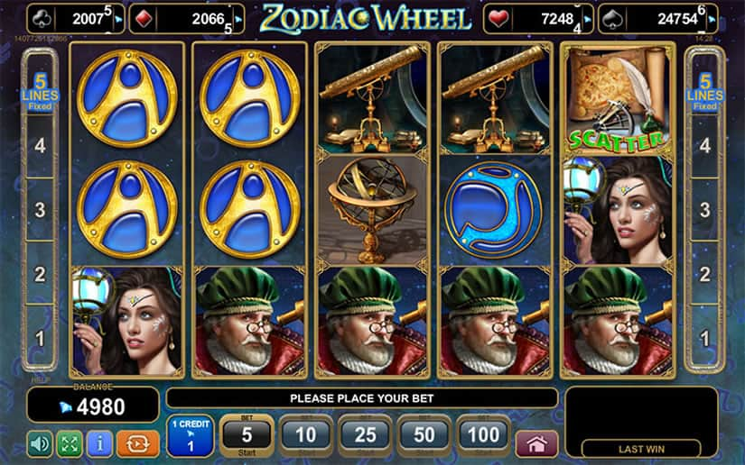 Zodiac Wheel Slot by EGT Software