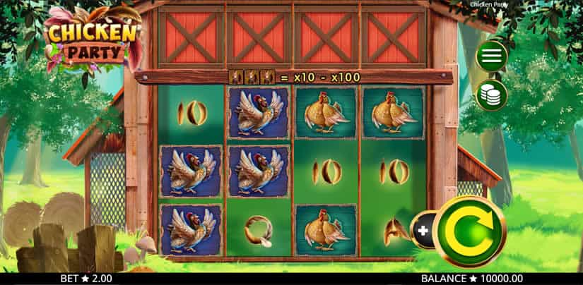 Best slots to play in January 2020: Chicken Party slot by Booming Games