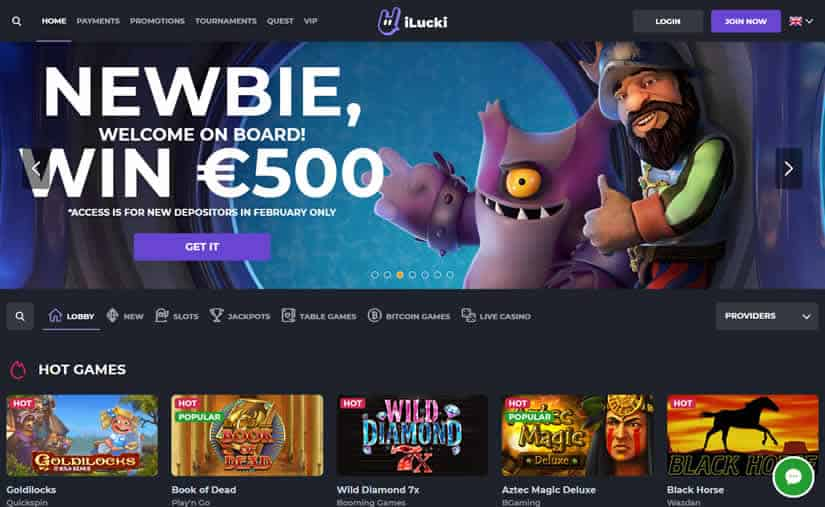 ilucki Casino New Homepage