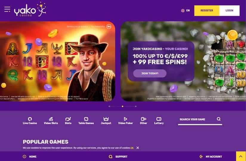 New Yako Casino Website