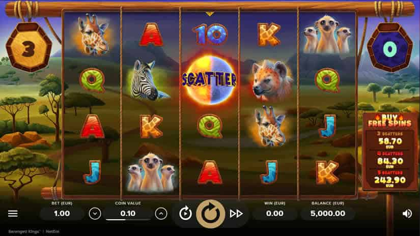 Serengeti Kings slot by NetEnt: One of the best slots to play in february 2020