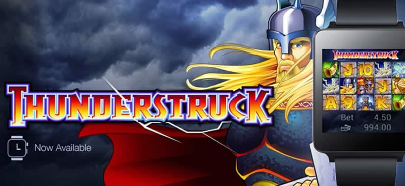 Thunderstruck smartwatch casino game