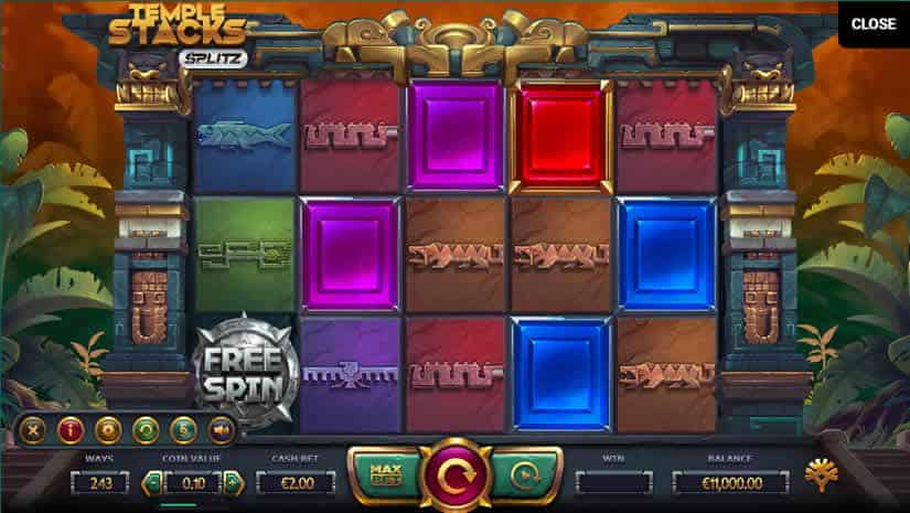 Temple Stacks slot by Yggdrasil: one of the best slot machines to play in february 2020