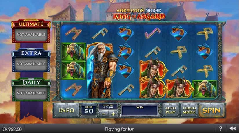Age of the Gods - Norse slot by Playtech: One of the best slots to play in March 2020