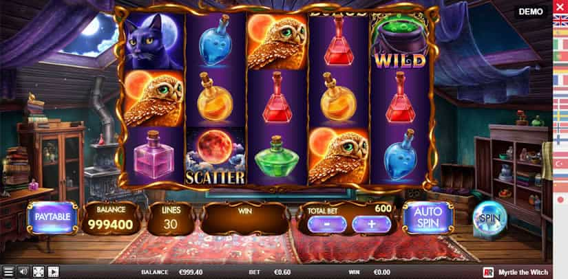 MYRTLE THE WITCH slot by Red Rake Gaming