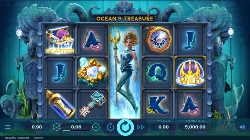 Ocean's Treasure slot by NetEnt: One of the best slots to play in March 2020
