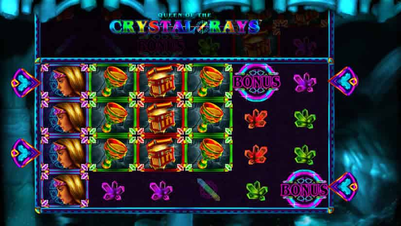 Queen of Crystal Rays slot by Crazy Tooth Studios