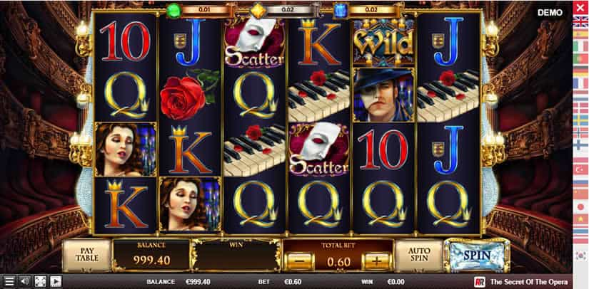 Secret of the Opera slot by Red Rake Gaming
