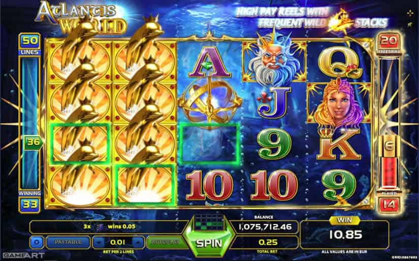 Atlantis World slot by GameArt