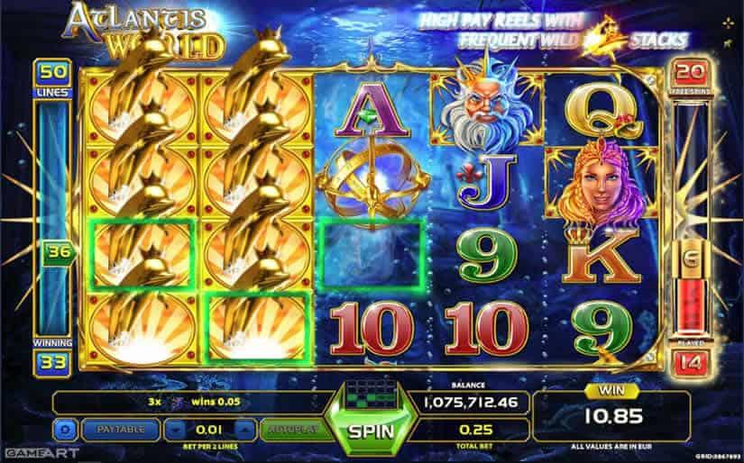 Atlantis World slot by GameArt