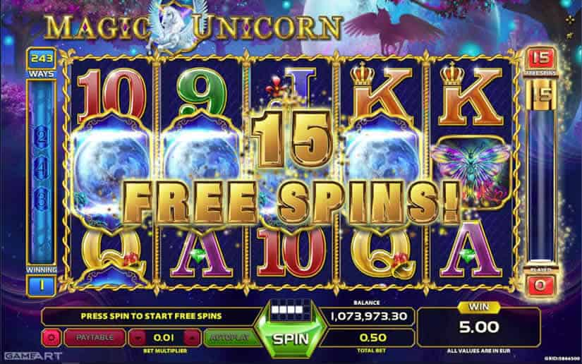 Magic Unicorn Gameart slot