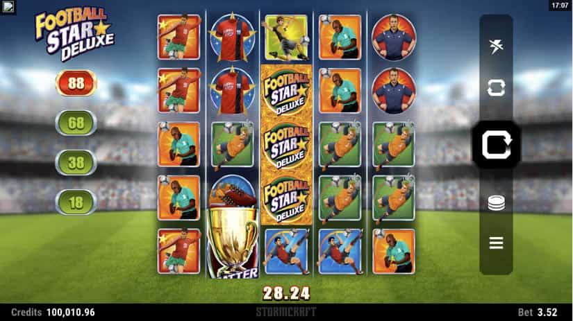 Football Star Deluxe slot by Microgaming: Best slots to play in june 2020