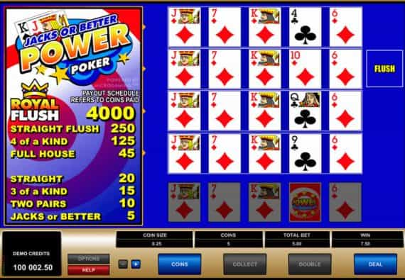 Jacks or Better video poker Microgaming Strategy
