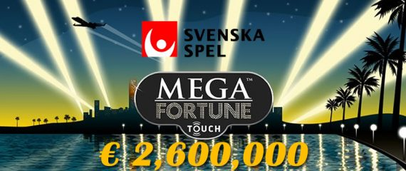 Svenska Spel 2,6 million euro jackpot for Netent Mega Fortune Slot