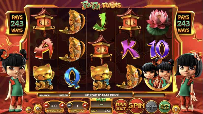 Asian themed Slots: Fa-Fa twins by betsoft
