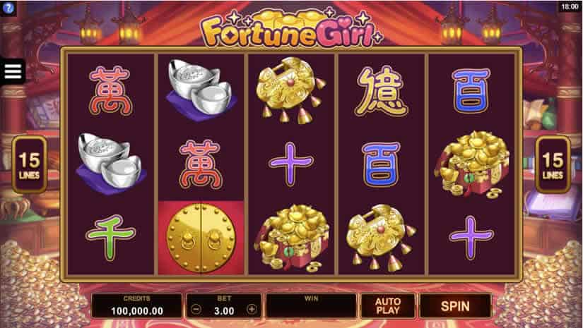 Asian Slot Machines: Fortune Girl by Microgaming