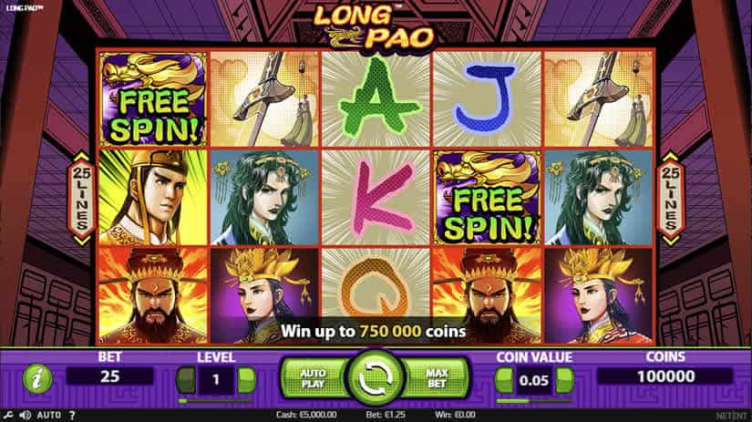 Best Asian Slot Machines: Long Pao slot by Netent