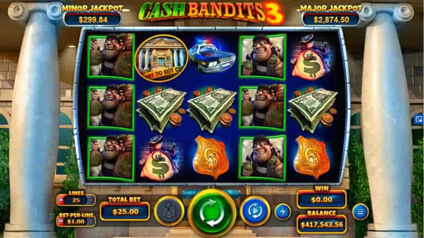 Best slots to play in August 2020: Cash Bandit 3 slot by RTG